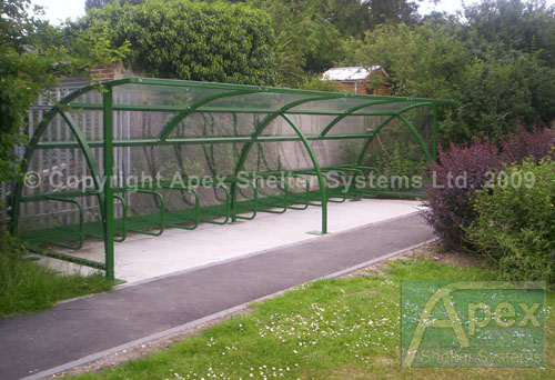 Bike Shelter - Alpha Design by Apex Shelter Systems