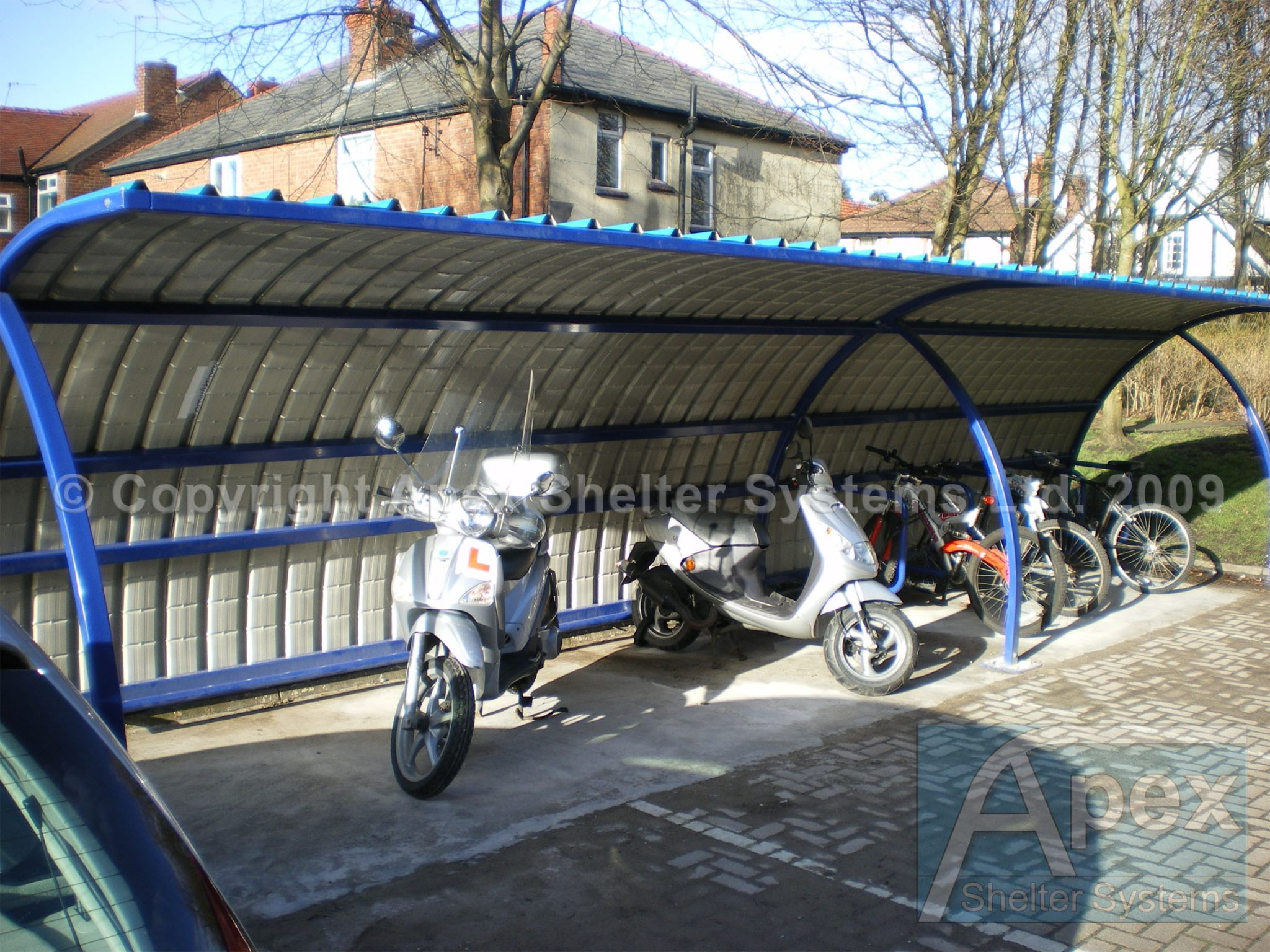 Motorcycle Metal Canopy : Alpha p motorcycle shelter apex sheltersapex shelters