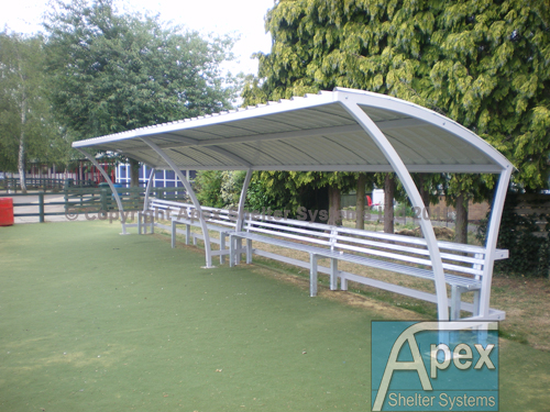 Beta Waiting Shelter with Seats - Apex Shelters