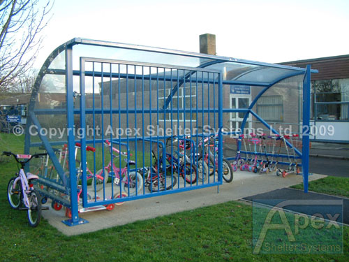 Combined Lockable Scooter Shelter and Cycle Shelter - Apex Shelters