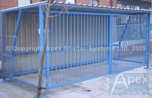 Theta Lockable Shelter with Hinged Gates