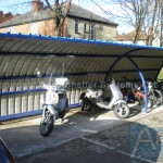 Alpha P Motorcycle Shelter