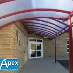 Dundee Covered Walkway Canopy – Apex Shelter Systems