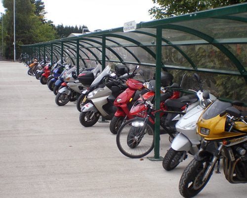 Bank of Alpha Motorcycle Shelters