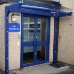 Orkney Glass Entrance Canopy Door Shelter