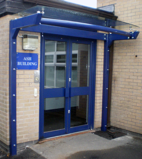 Glass Door Canopy Orkney Entrance Canopy