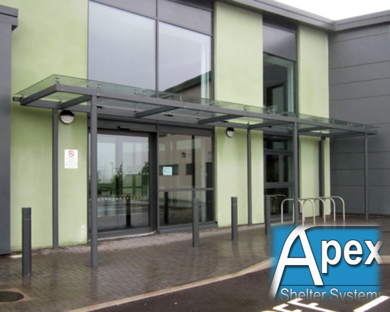 Caerphilly Glass Entrance Canopy