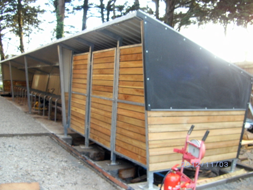 Truro Wood Clad Cycle Shelter