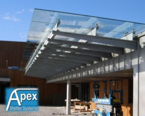 Installation of Glass Roof to existing canopy