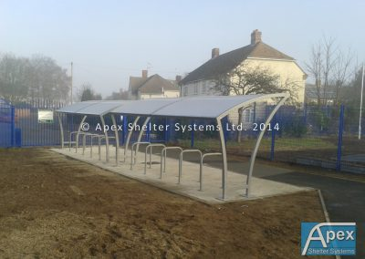 Beta T General Shelters cw individual sheffield stands