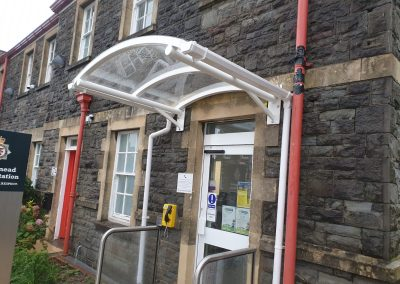 Curved Wall Mounted Canopy 2